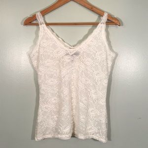 WHBM White Lace camisole